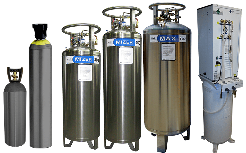 Beverage CO2 cylinders, micro-bulk tanks, and bulk tanks from General AIr