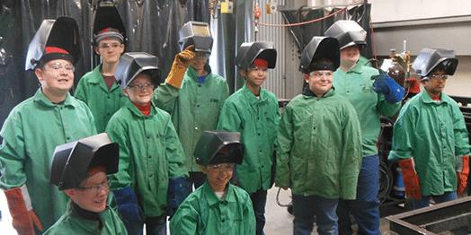 boy scouts welding class