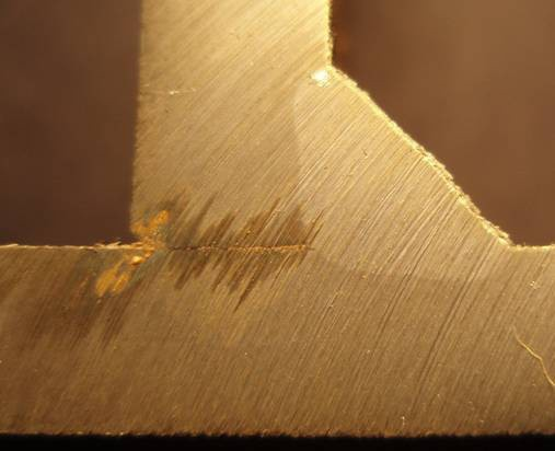 metal-cored wire penetration